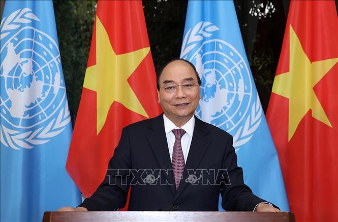 Thủ tướng Chính phủ Nguyễn Xuân Phúc đã có thông điệp quan trọng gửi tới Phiên họp. Ảnh: Thống Nhất/TTXVN