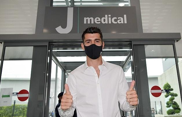 Morata đã đến Juventus kiểm tra y tế