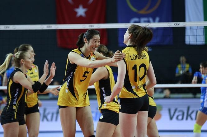 Sao bóng chuyền châu Á Zhu Ting trong màu áo VakýfBank