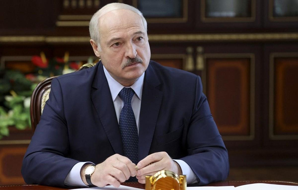 Tổng thống Belarus Alexander Lukashenko đã tuyên thệ nhậm chức nhiệm kỳ mới. (Nguồn: euronews.com)