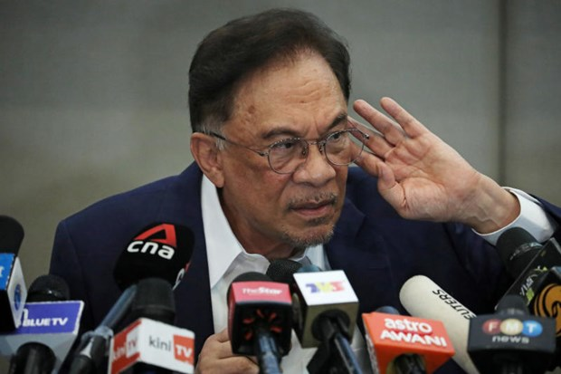 Lãnh đạo đối lập Anwar Ibrahim. Ảnh: BP