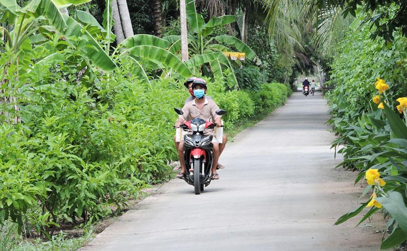 Tuyến đường xanh - sạch - đẹp được Hội Liên hiệp Phụ nữ các cấp thực hiện.