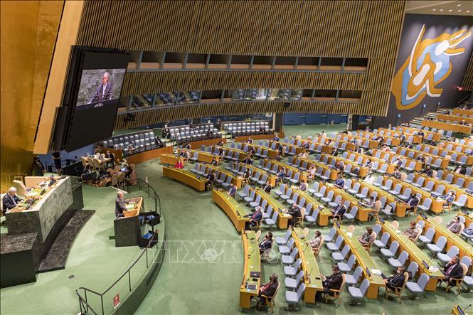 Tổng Thư ký LHQ Antonio Guterres phát biểu tại Phiên thảo luận chung cấp cao của kỳ họp Đại Hội đồng Liên hợp quốc (ĐHĐ LHQ) Khóa 75 ở New York, Mỹ ngày 23-9-2020. Ảnh: THX/TTXVN