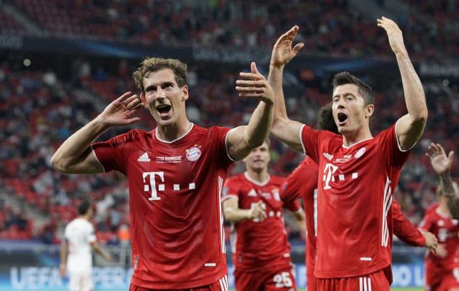 Sau nhiều cơ hội bị bỏ lỡ, Bayern mới có thể ăn mừng bàn thắng. Ảnh: Reuters.