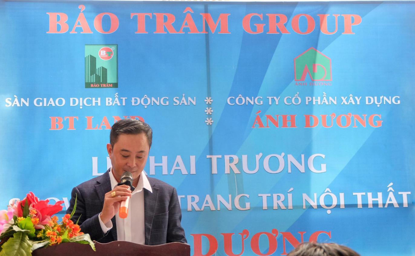 Ông Nguyễn Trường Hải - Chủ tịch HĐQT Bảo Trâm Group phát biểu tại buổi lễ.