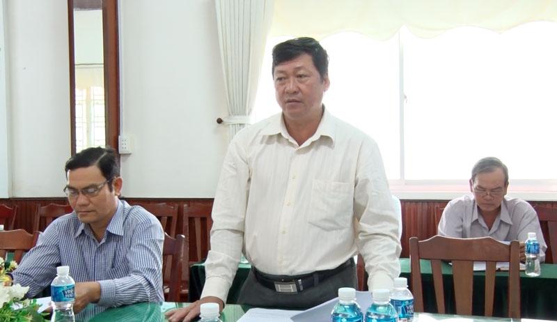 Phó bí thư Thường trực Thành ủy Võ Thanh Hồng phát biểu tại hội nghị.