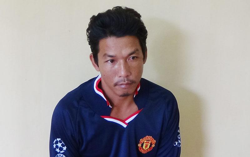 Hồ Tấn Lợi tại cơ quan điều tra.
