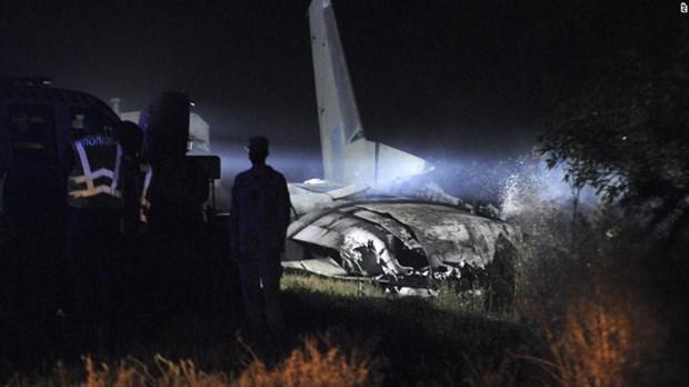 Hiện trường vụ rơi máy bay. (Ảnh: CNN)