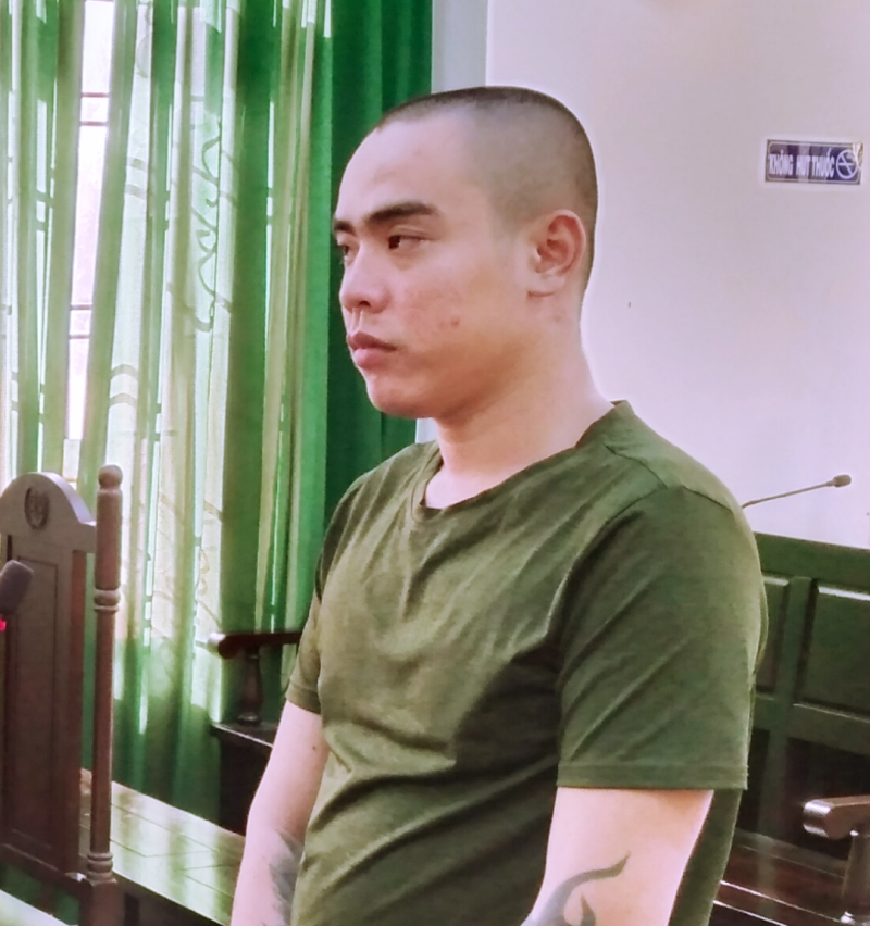 Bị cáo Phạm Hải Phong tại phiên tòa.