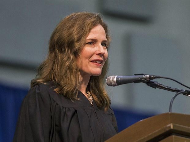 Thẩm phán tòa phúc thẩm theo đường lối bảo thủ Amy Coney Barrett. Ảnh: Bloomberg