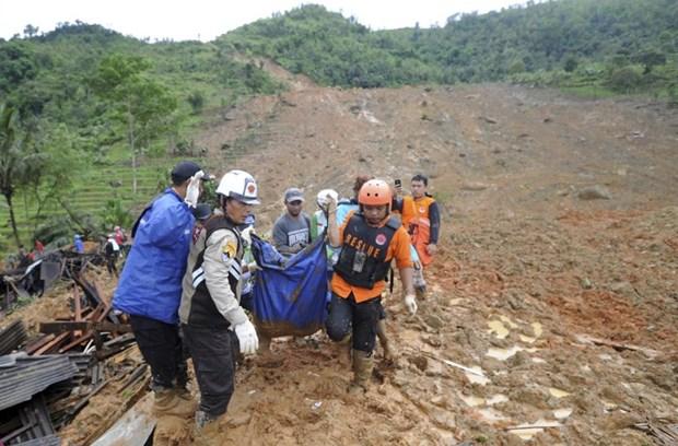 Hiện trường một vụ sạt lở đất ở Indonesia. Ảnh minh họa. Nguồn: AP
