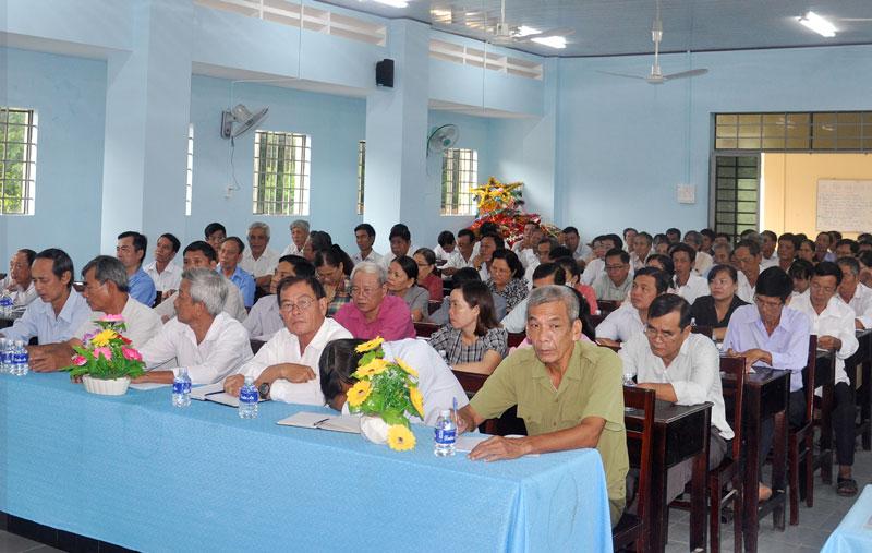Đại biểu dự tập huấn về công tác dân số.