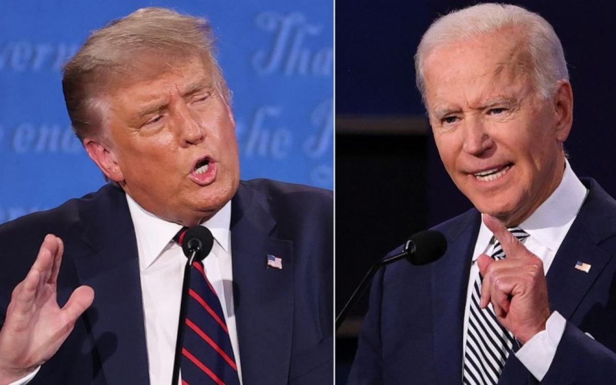 Ứng viên Tổng thống Mỹ Trump (trái) và Biden. Ảnh: ABC News
