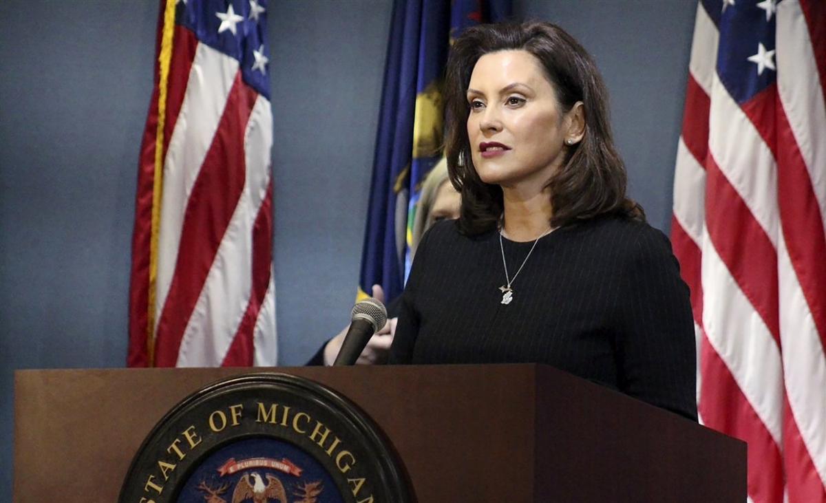 Thống đốc bang Michigan Gretchen Whitmer. Ảnh: AP