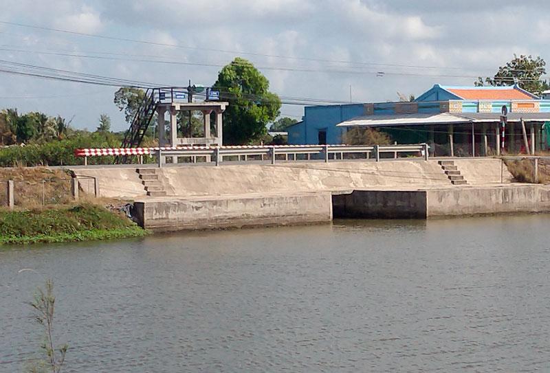 Tỉnh đang tập trung đầu tư hệ thống thủy lợi khép kín ngăn mặn, trữ ngọt.