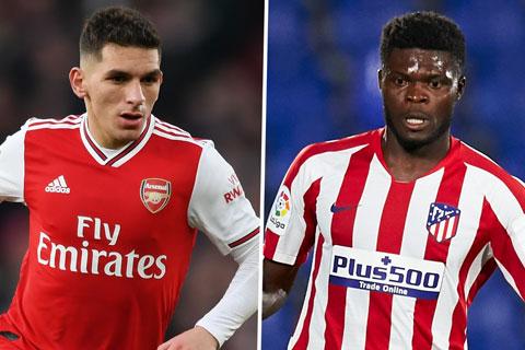 Torreira và Partey đổi chỗ cho nhau tại Arsenal và Atletico