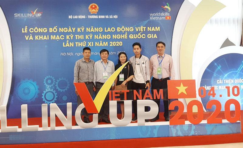 Đoàn Bến Tre tham dự Kỳ thi Kỹ năng nghề quốc gia 2020. Ảnh: Q.Phong