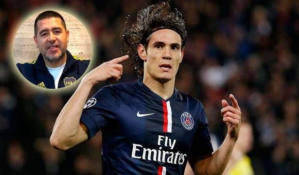 Cavani đã nói chuyện với Riquelme về kế hoạch đầu quân cho Boca Juniors
