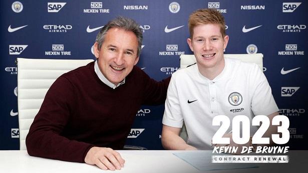 De Bruyne đang có hợp đồng với Man City đến năm 2023