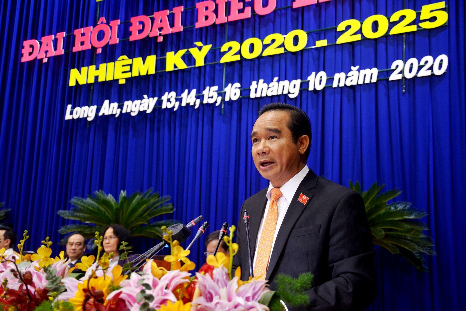 Đồng chí Nguyễn Văn Được giữ chức Bí thư Tỉnh ủy Long An nhiệm kỳ 2020-2025.