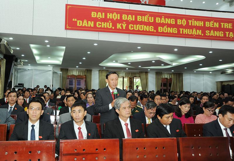 Giám đốc Sở Công Thương Châu Văn Bình phát biểu tại Đại hội. Ảnh: Q.Hùng