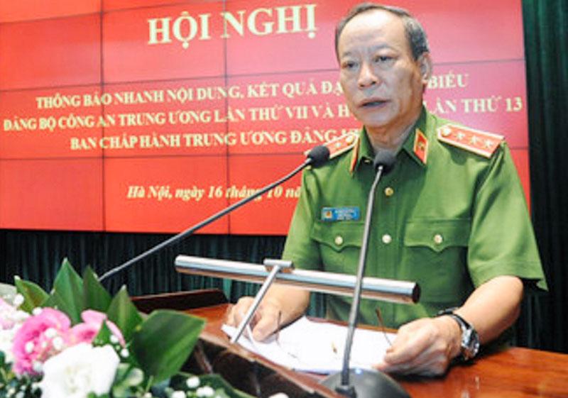 Thượng tướng Lê Qúy Vương thông báo nhanh nội dung, kết quả Đại hội đại biểu Đảng bộ Công an Trung ương lần thứ VII.