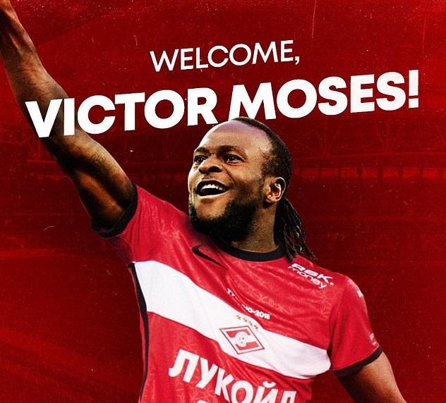 Moses đã chuyển sang Spartak Moscow