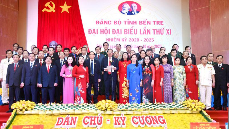 Ban Chấp hành Đảng bộ tỉnh nhiệm kỳ 2020 - 2025 ra mắt hạ quyết tâm trước đại hội. Ảnh: CTV