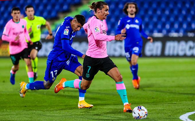 Griezmann tiếp tục vô duyên trong màu áo Barca