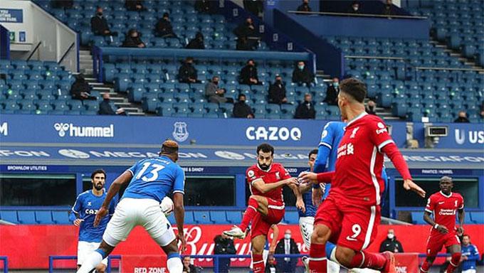 Salah đã có tròn 100 bàn thắng cho Liverpool