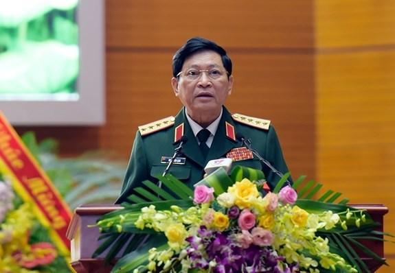 Đại tướng Ngô Xuân Lịch phát biểu tại buổi lễ. Nguồn: qdnd.vn