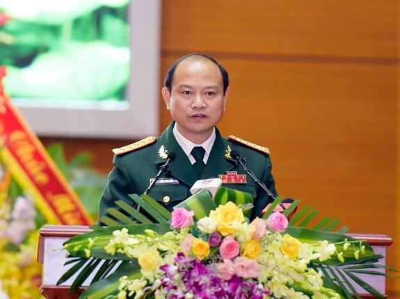 Đại tá Trần Anh Tuấn đọc thư của Tổng Bí thư, chủ tịch nước Nguyễn Phú Trọng. Nguồn: qdnd.vn