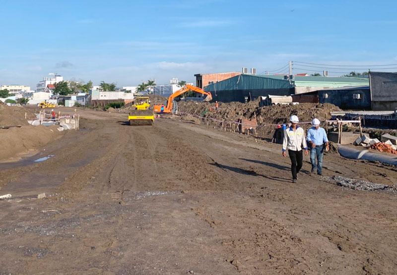 Tập trung triển khai các dự án khu dân cư đô thị tại địa bàn TP. Bến Tre. Ảnh: Cẩm Trúc