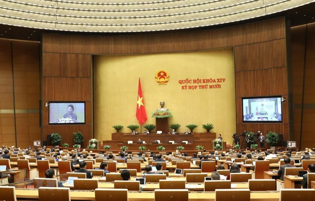 Quang cảnh phiên khai mạc Kỳ họp thứ mười, Quốc hội khóa XIV. Ảnh: Văn Điệp/TTXVN