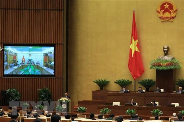 Các địa phương họp trực tuyến phiên khai mạc Kỳ họp thứ mười, Quốc hội khóa XIV. (Ảnh: Văn Điệp/TTXVN)