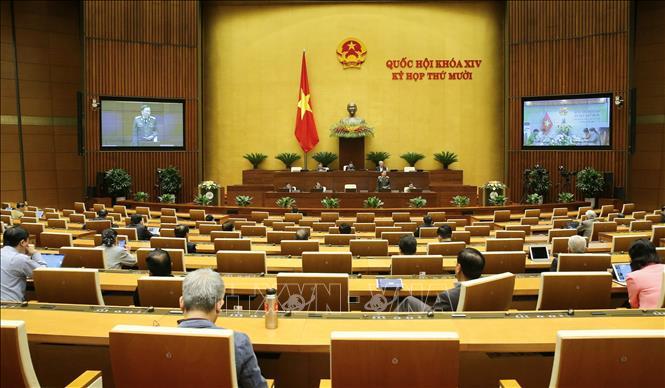 Quang cảnh phiên họp Quốc hội sáng 21-10-2020. Ảnh: Doãn Tấn/TTXVN