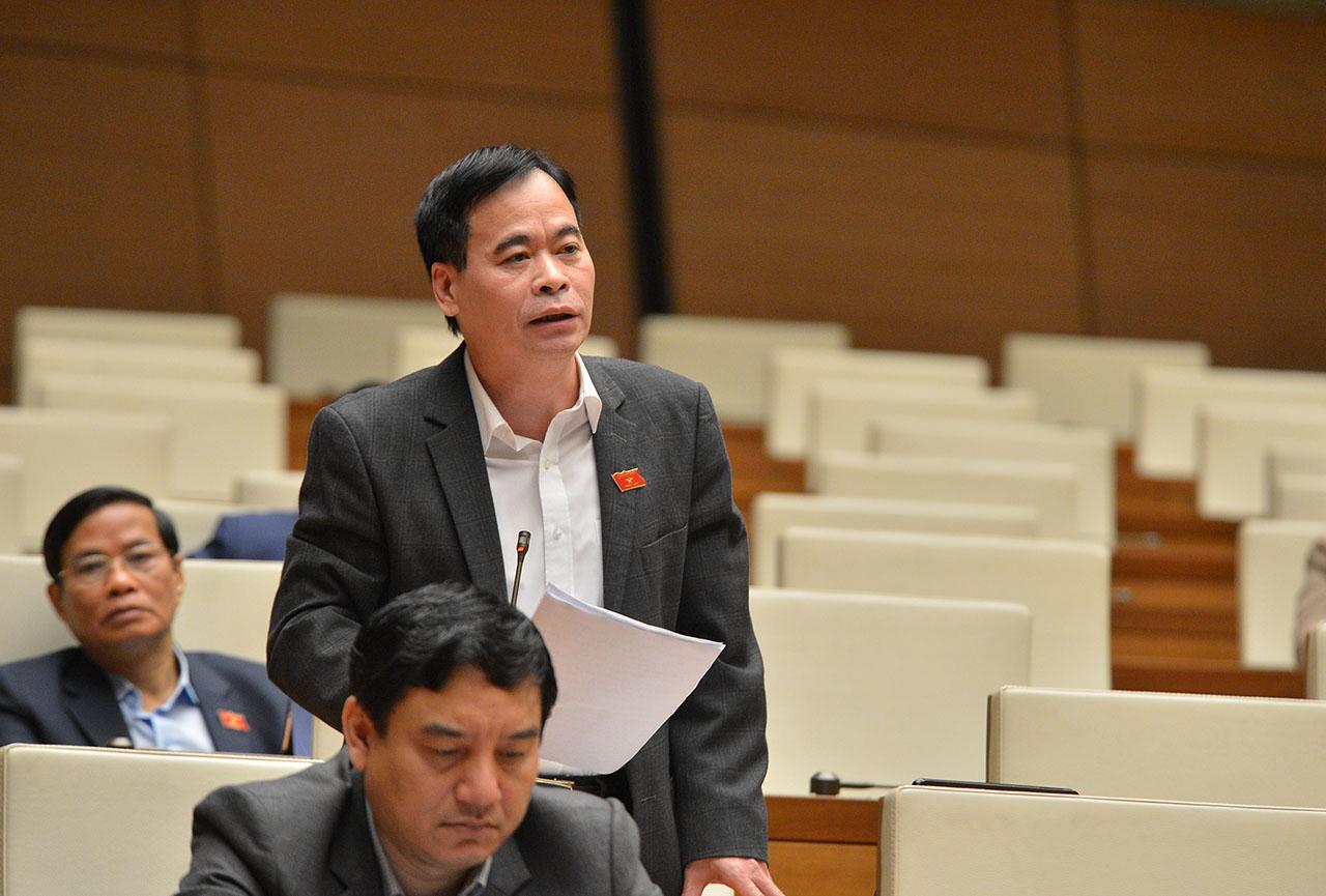 Đại biểu Nguyễn Mạnh Cường, Đoàn Đại biểu Quốc hội tỉnh Quảng Bình, phát biểu ý kiến.