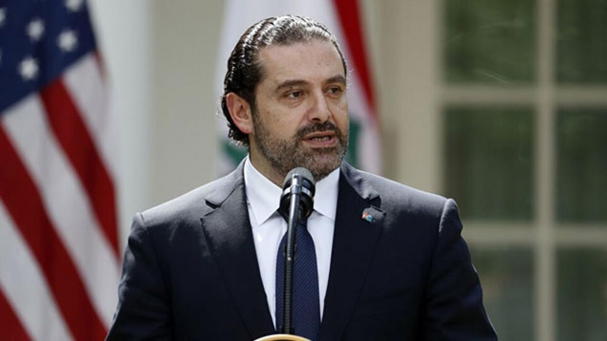 Ông Saad Hariri làm Thủ tướng Lebanon. Ảnh AP.