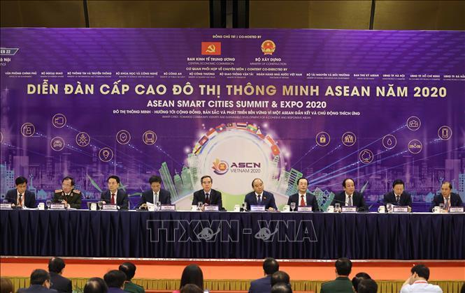 Thủ tướng Nguyễn Xuân Phúc, Chủ tịch ASEAN 2020 tại diễn đàn. Ảnh: Thống Nhất/TTXVN