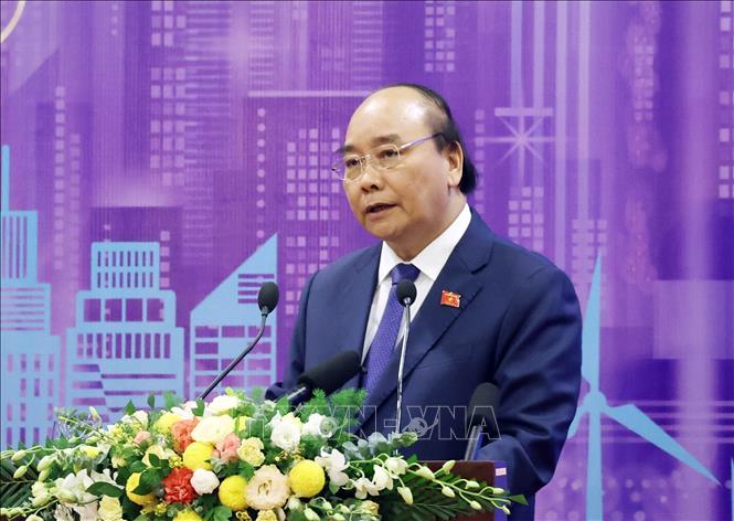 Thủ tướng Nguyễn Xuân Phúc, Chủ tịch ASEAN 2020 phát biểu tại diễn đàn. Ảnh: Thống Nhất/TTXVN