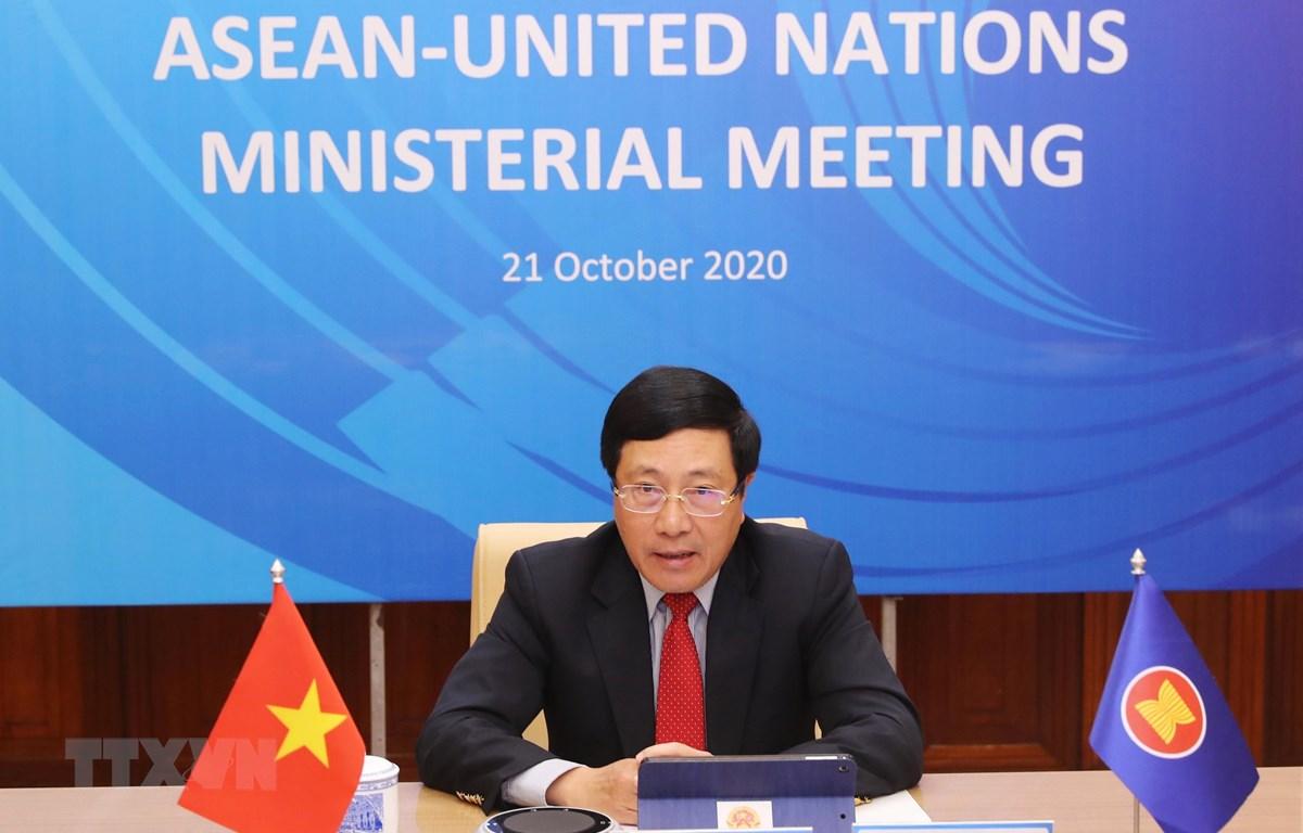 Phó Thủ tướng, Bộ trưởng Bộ Ngoại giao Phạm Bình Minh. (Ảnh: Lâm Khánh/TTXVN)
