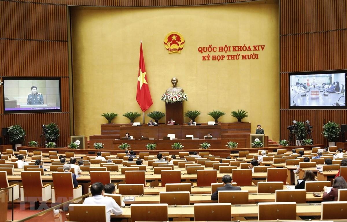 Quang cảnh phiên họp ngày 24-10. (Ảnh: Dương Giang/TTXVN)