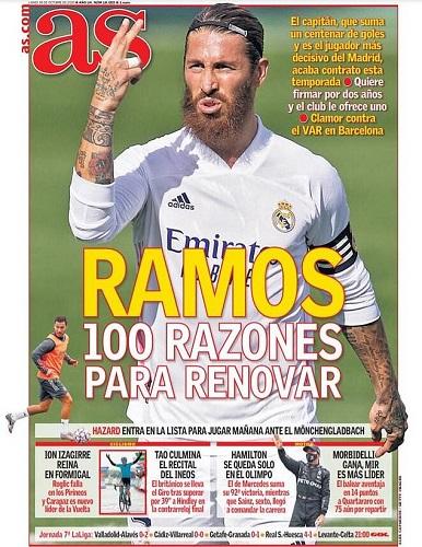 Ramos chưa đạt thỏa thuận gia hạn hợp đồng với Real Madrid