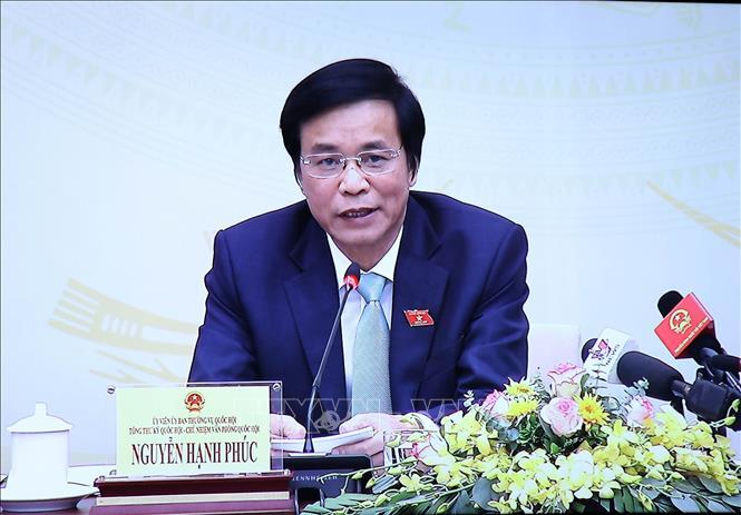 Tổng Thư ký, Chủ nhiệm Văn phòng Quốc hội Nguyễn Hạnh Phúc. Ảnh: Trọng Đức/TTXVN