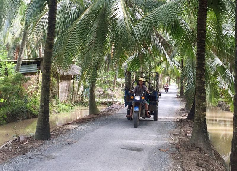 Bộ mặt nông thôn mới xã Thới Lai ngày càng khởi sắc.