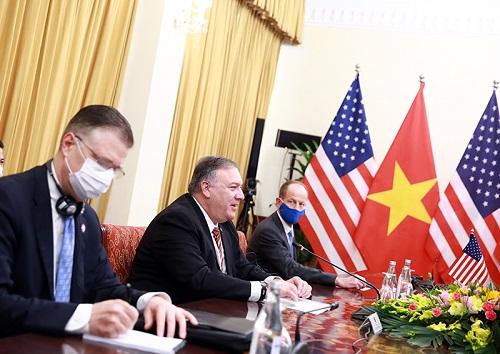 Ngoại trưởng Hoa Kỳ đánh giá cao các biện pháp Chính phủ Việt Nam hướng tới quan hệ thương mại hài hòa và bền vững - Ảnh: VGP/Hải Minh