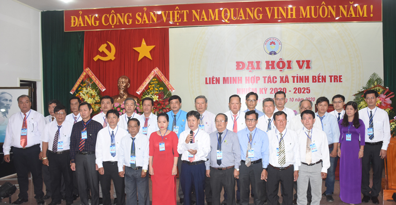 Ra mắt Ban Chấp hành Liên minh HTX tỉnh nhiệm kỳ 2020 - 2025.