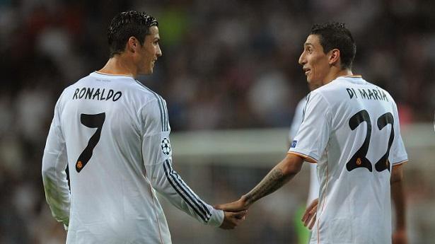 Ronaldo từng có 4 năm thi đấu cùng Di Maria ở Real Madrid