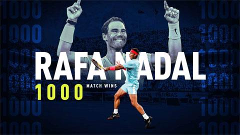 Nadal gia nhập CLB 1.000 trận thắng