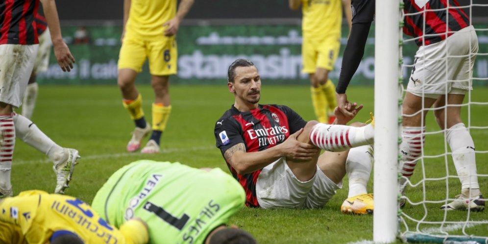 Ibrahimovic vừa là người hùng, vừa là tội đồ trong trận hoà của Milan hôm 8-11-2020. Ảnh: AP
